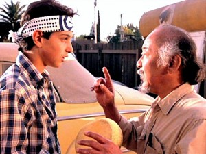 """Karate Kid"" (Ralph Macchio, Pat Morita)"