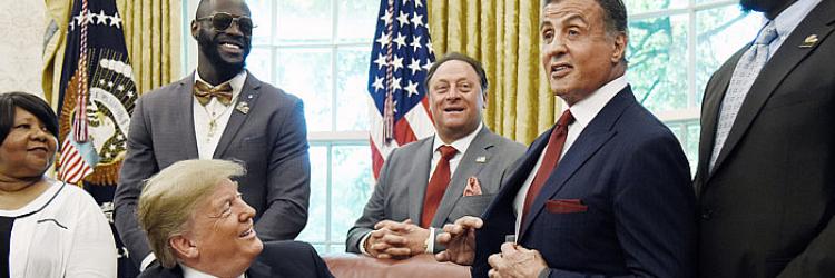 Sylvester Stallone i Donald Trump